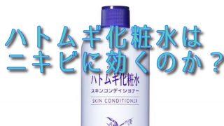 ニキビ肌な男性が、ハトムギ化粧水を3,4年使ったレビューです。